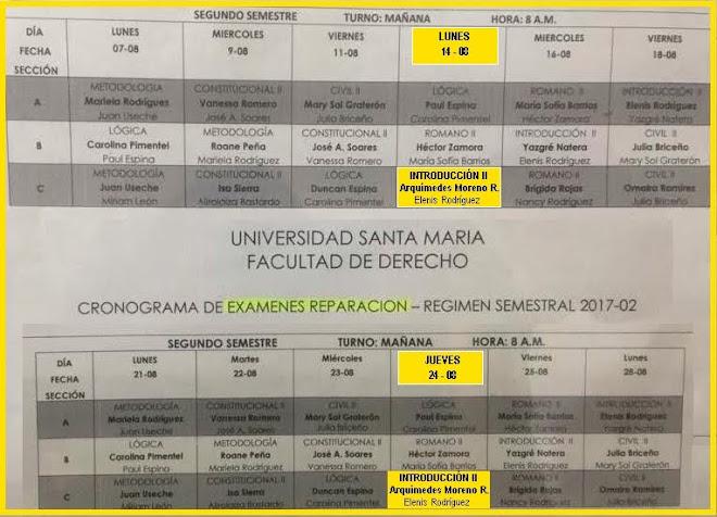 Calendario Exámenes FINALES y REPARACIÓN