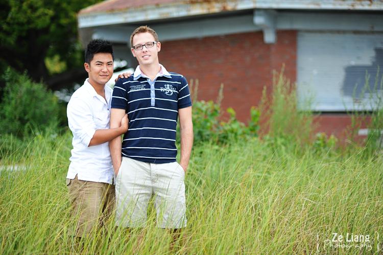same-sex engagement session castle island boston ben&justin 11