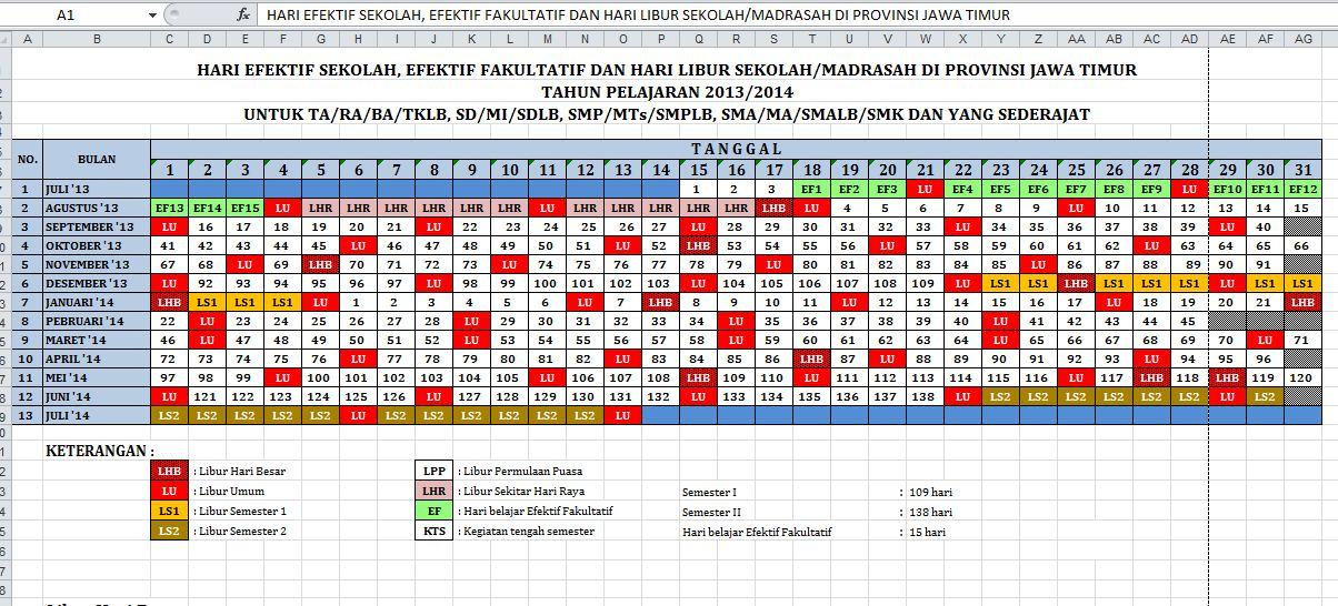 Download Kalender Pendidikan Tahun Pelajaran 2013/2014