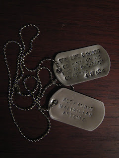 Dog Tags in Memory of Alexander The Great