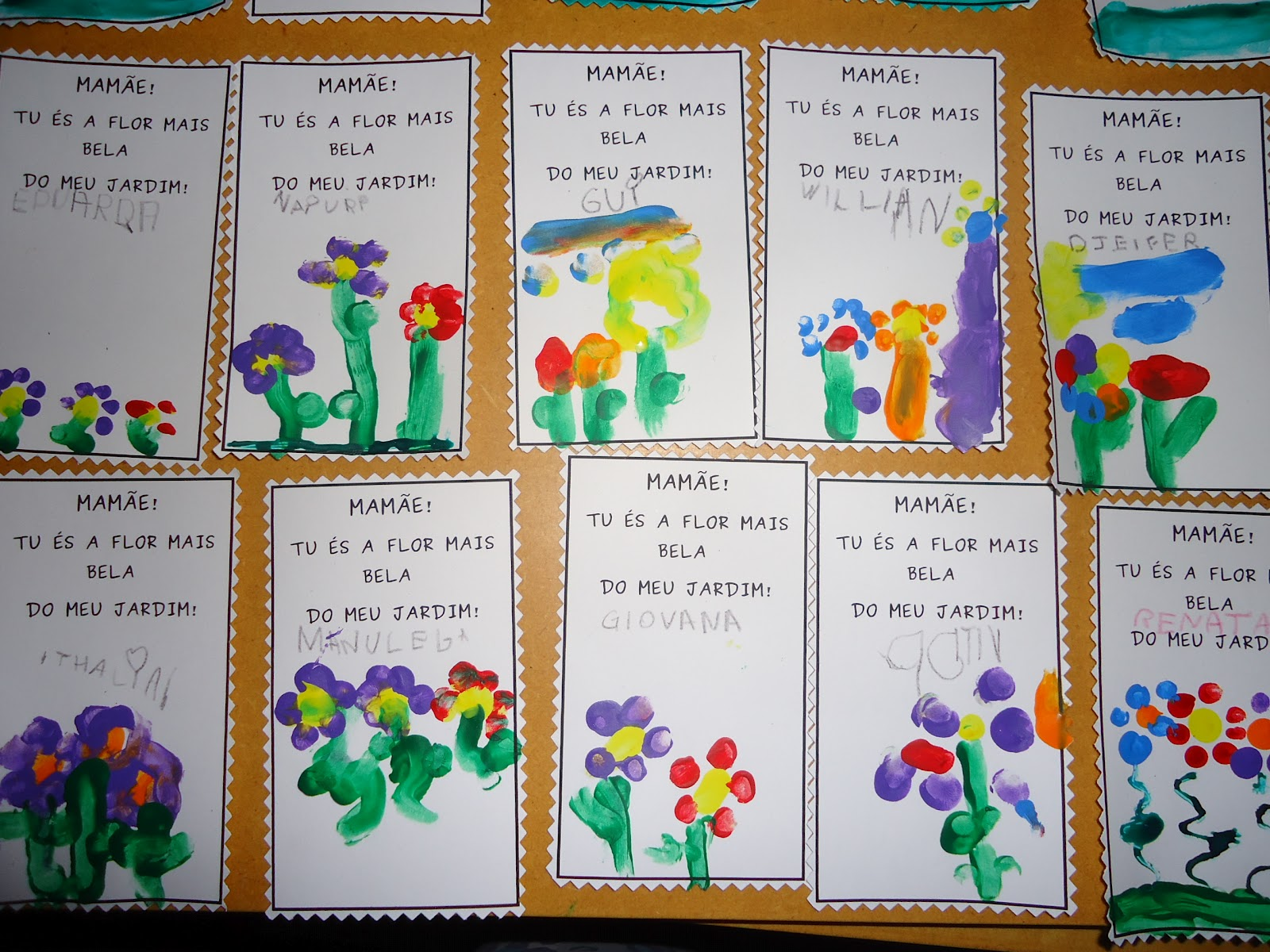 flores do jardim letra : flores do jardim letra:JARDIM: Parabéns Mamãe!