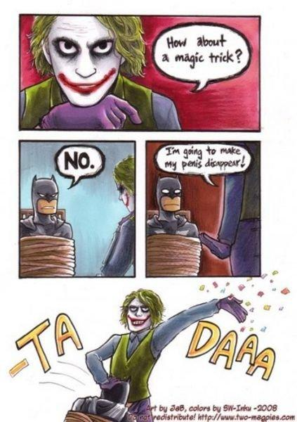 Joker's Magic Trick funny pic