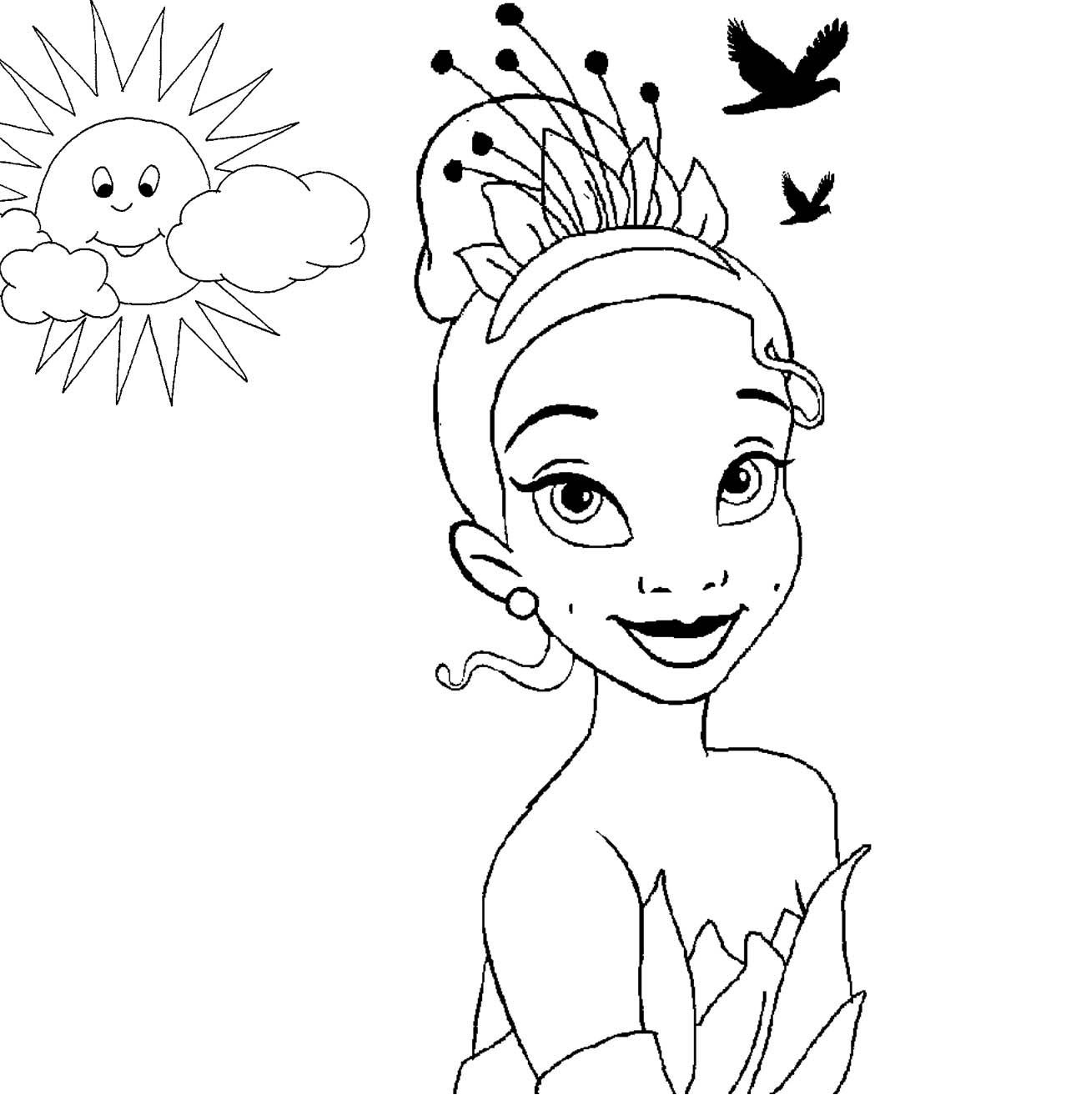 Disney Princess Tiana Coloring