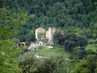 Façana sud-est del mas i castell de L'Espunyola