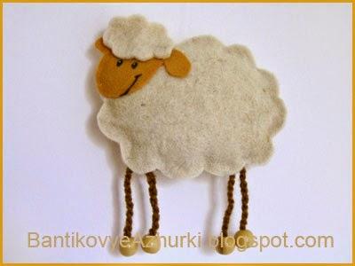 овечка из фетра