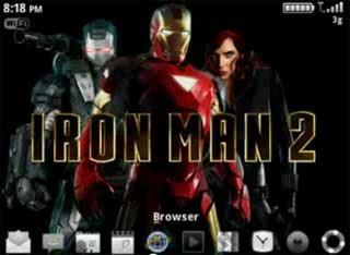 Tema Iron Man untuk semua tipe BlackBerry