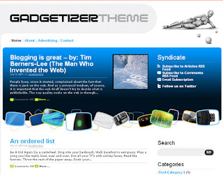 Gadgetizer – Free WordPress Theme