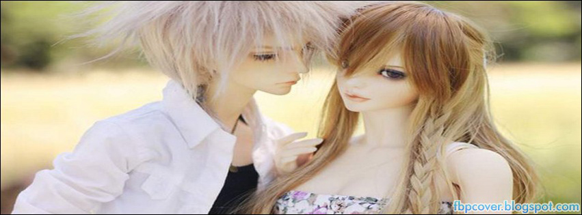 Doll Couple Cute Lovely Photography Facebook Cover ...