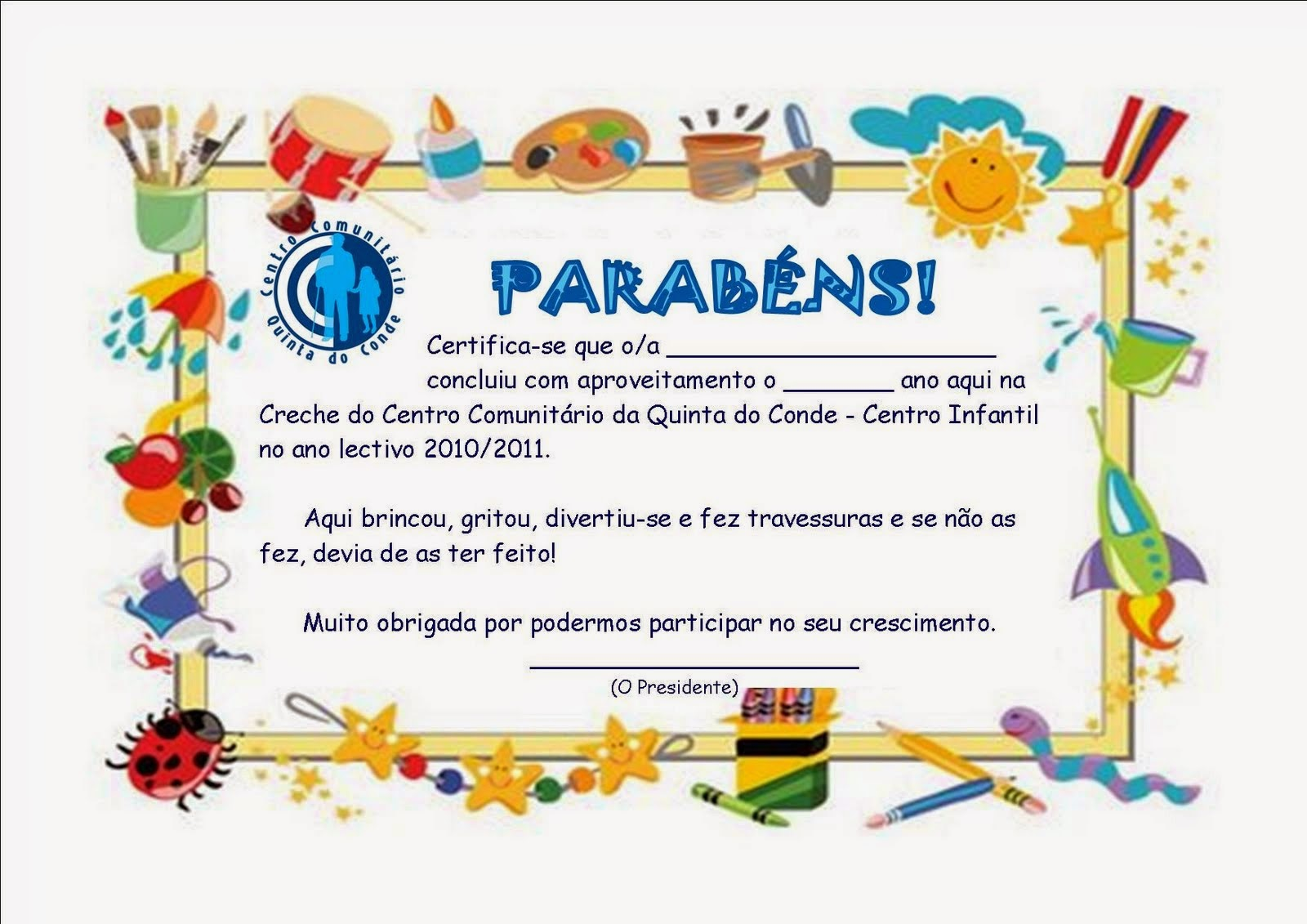 Super GOSPEL INFANTIL : Diploma (escola dominical) PQ29