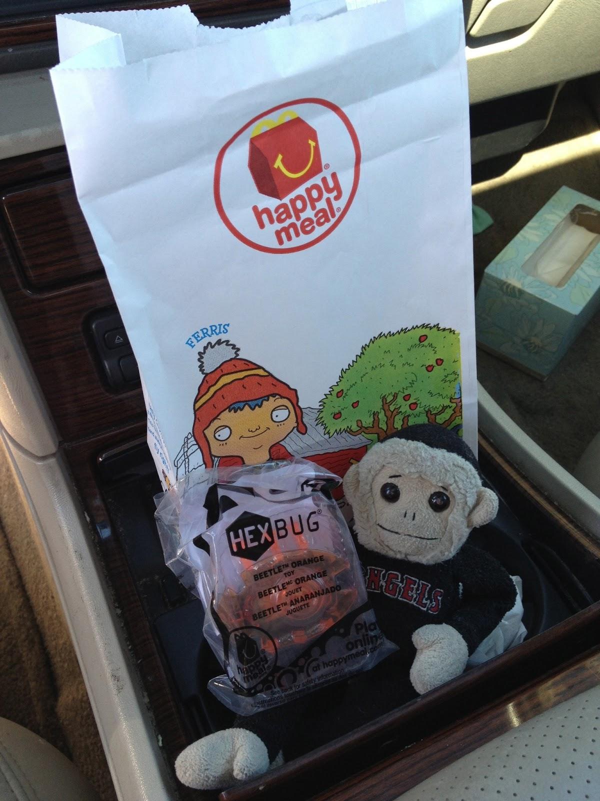tuna, tuna the monkey, monkey, angels, angels rally monkey, rally monkey, hex bug, mcdonalds, mcdonalds kids meal, ty, beanie baby, kids meal