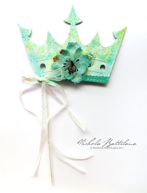 Sparkly Floral Crown with Petaloo Blooms - Nichola Battilana