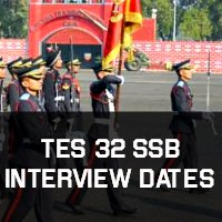 TES 32 SSB Interview Dates