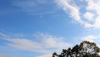 Lovely blue sky and no rain