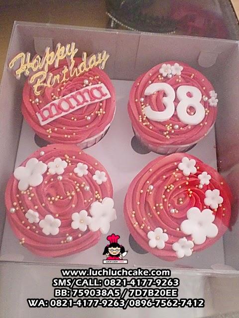 Simpel Elegant Cupcake Untuk Ulang Tahun Mama