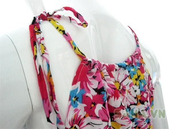 jumpsuit hoa cổ yếm 3197