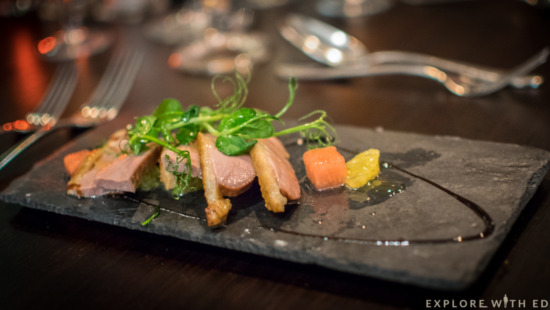 Duck and salad, Laguna Kitchen, Chef's Table Menu, Park Plaza Cardiff