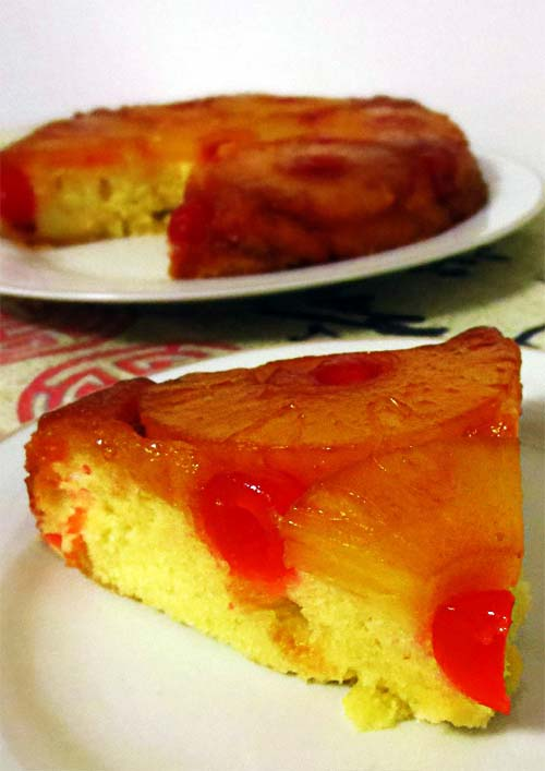 Soft and Moist Pineapple Upside Down Cake with Cherries