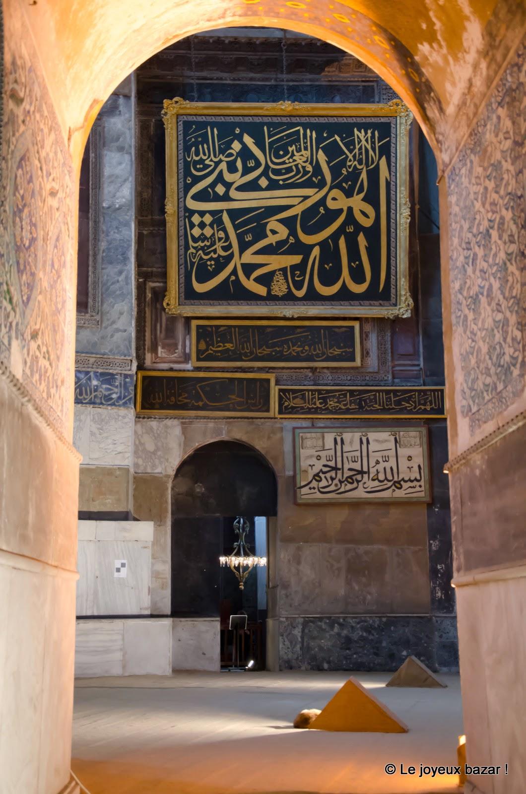 Istanbul - Sainte Sophie - intérieur