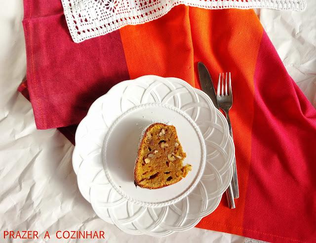 prazer a cozinhar - Bundt de abóbora e nozes