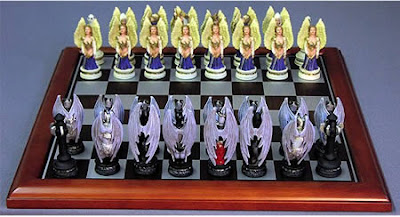 ANGELS VS DEMONS CHESS SET