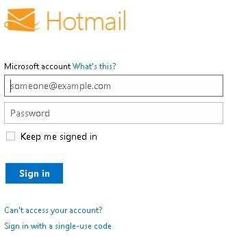 Hotmail com sign in page, hd 1080p, 4k foto