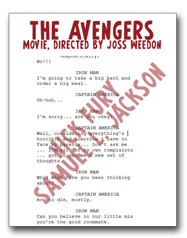 comicbook crossfire sam jackson s missing avengers movie script
