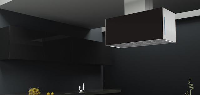 Hotte design pour lot i 351 pando - Hotte ilot noire ...