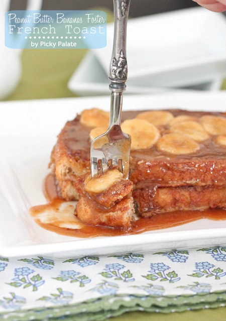 Peanut Butter Banana Foster French Toast @ Picky Palate