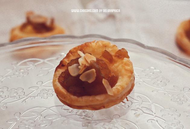 Tartaletas de crema pastelera y manzana - Mini apple pies