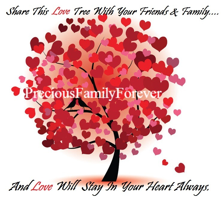 Friends Family Tree: Precious Family: Share This LOVE Tree With Your Friends