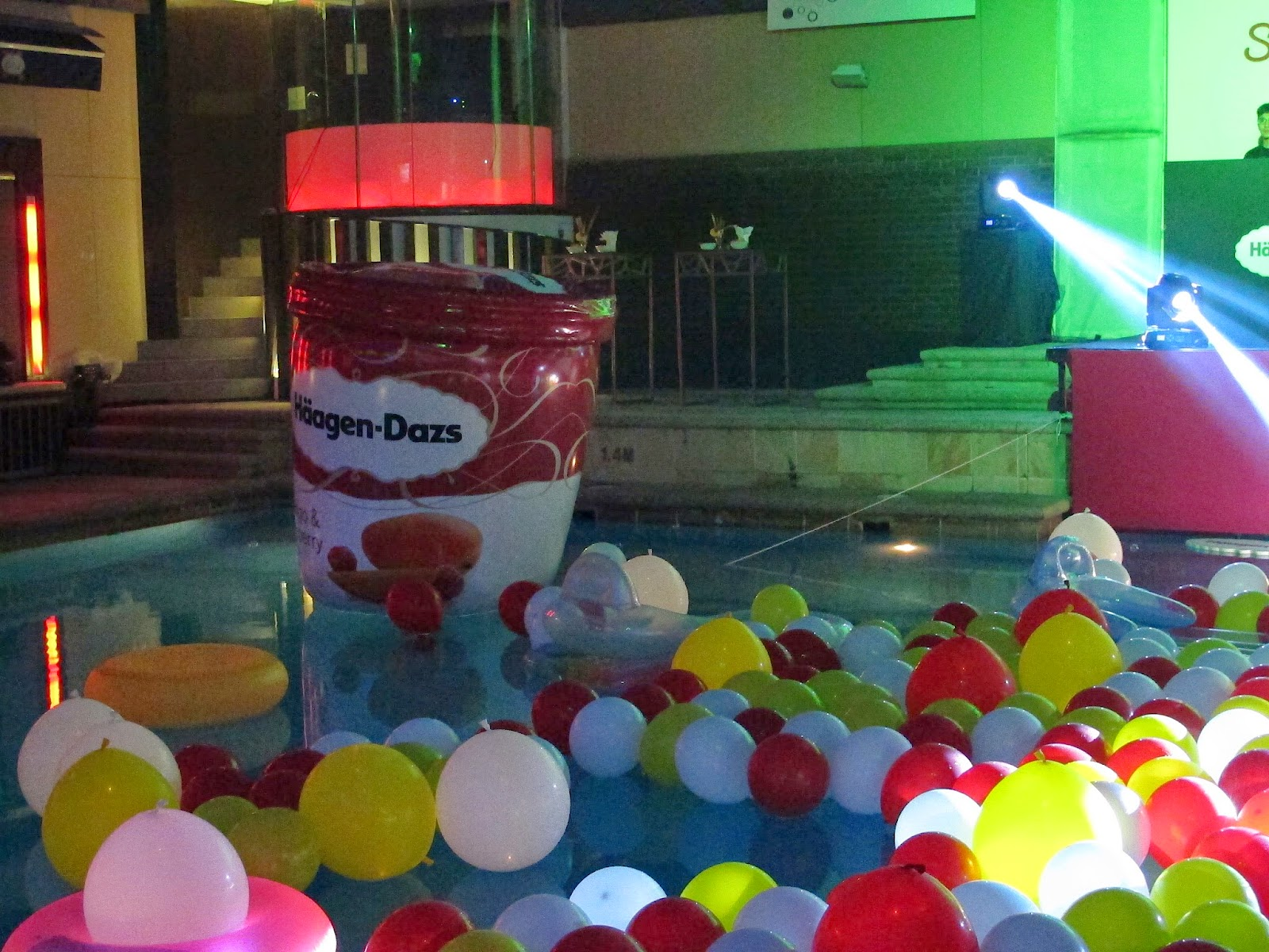 scoop of summer pool party balloon ice cream luna bar kuala lumpur malaysia night