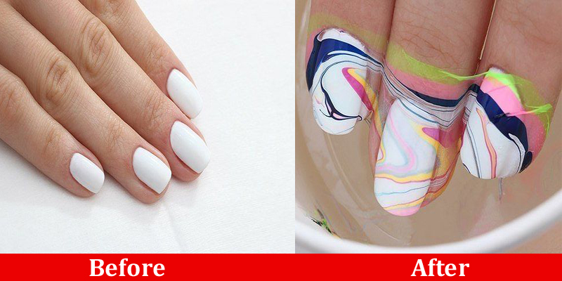 water marble manicure technique b g fashion. Black Bedroom Furniture Sets. Home Design Ideas