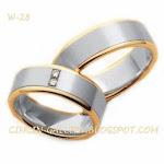 cincin emas putih  Rp 5.000.000