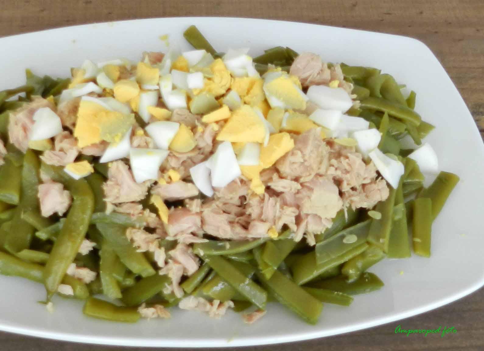 Cocinando en casa ensalada de jud as verdes - Ensalada de judias verdes arguinano ...