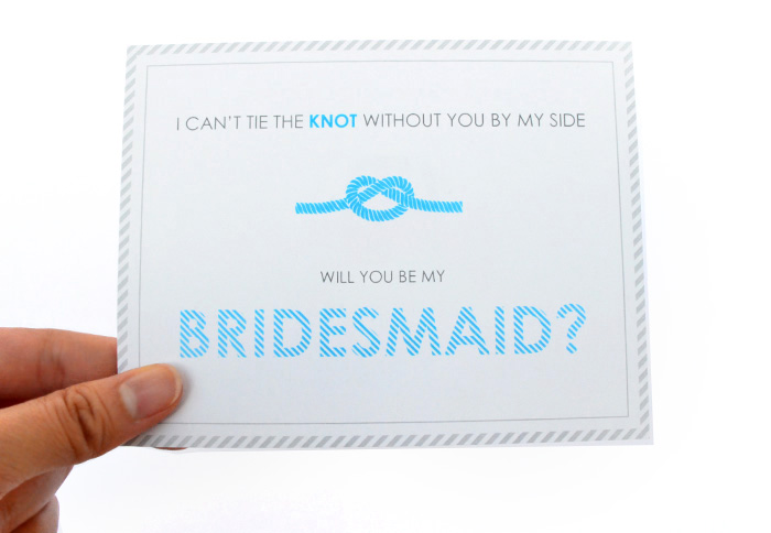 way to ask bridesmaids