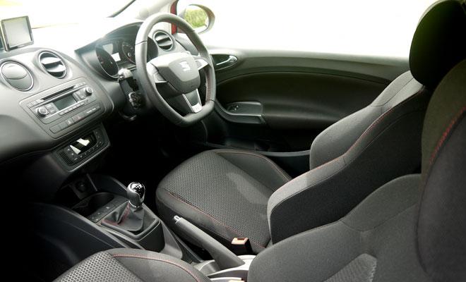 2014 Seat Ibiza SC FR Design front interior