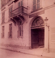 Balcon du 6 quai d'Orléans, photo de Atget vers 1900