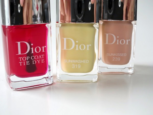 Dior Vernis Gel Shine limited edition Tie Dye nail polishes in 'Sunkissed' and 'Sunwashed