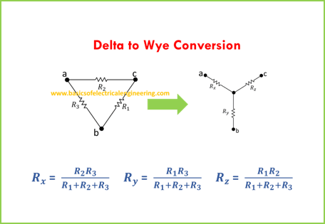 Delta to wye conversion solved examples