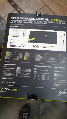 Goal Zero Sherpa 50 Solar Recharging Kit with Recharger, Solar Panel, and Inverter