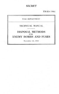 Disposal Methods For Enemy Bombs And Fuses