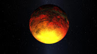 Artist conception of exoplanet Kepler-10b