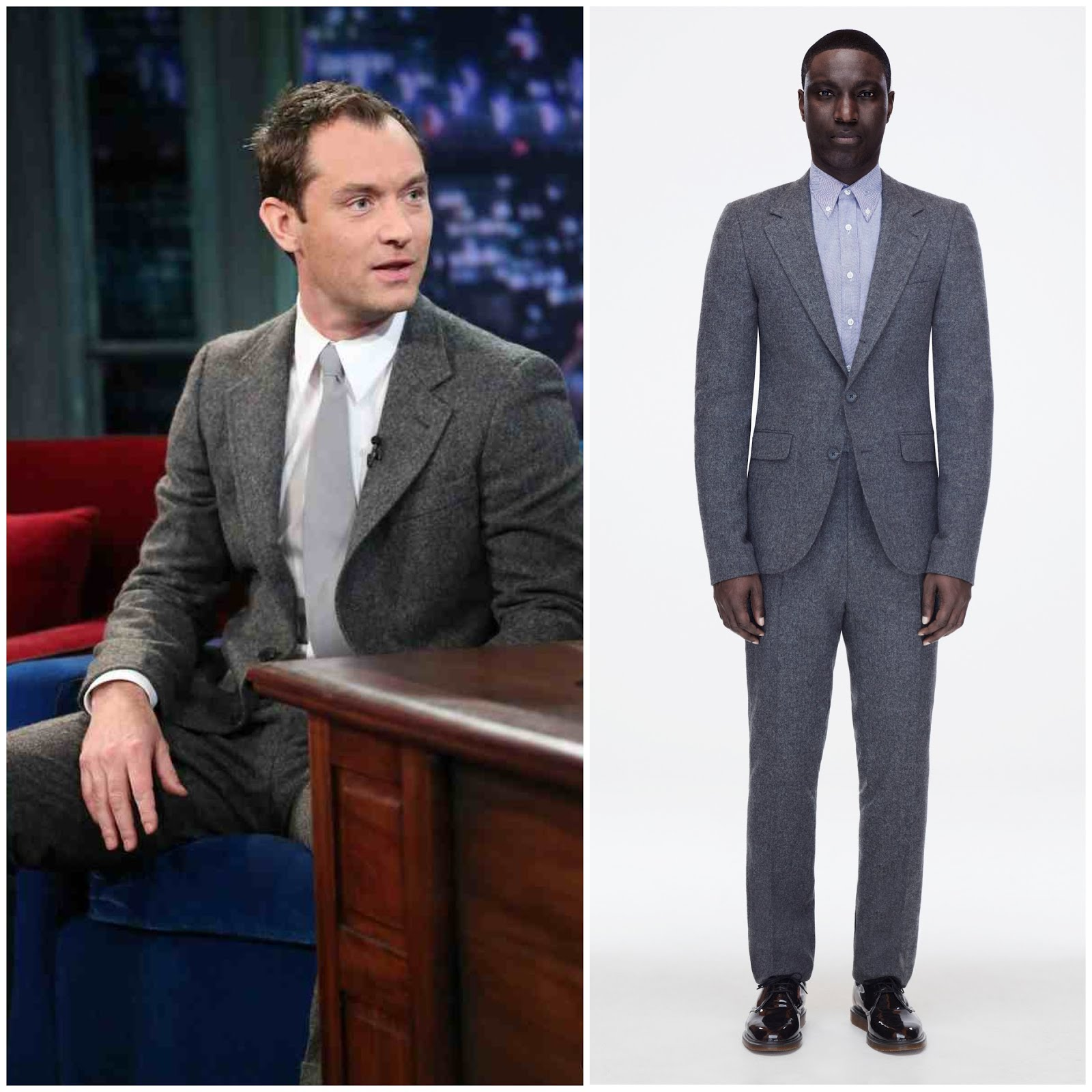 00O00 Menswear Blog Jude Law in A. Sauvage (@THISISNOTASUIT) - 'Late Night with Jimmy Fallon'