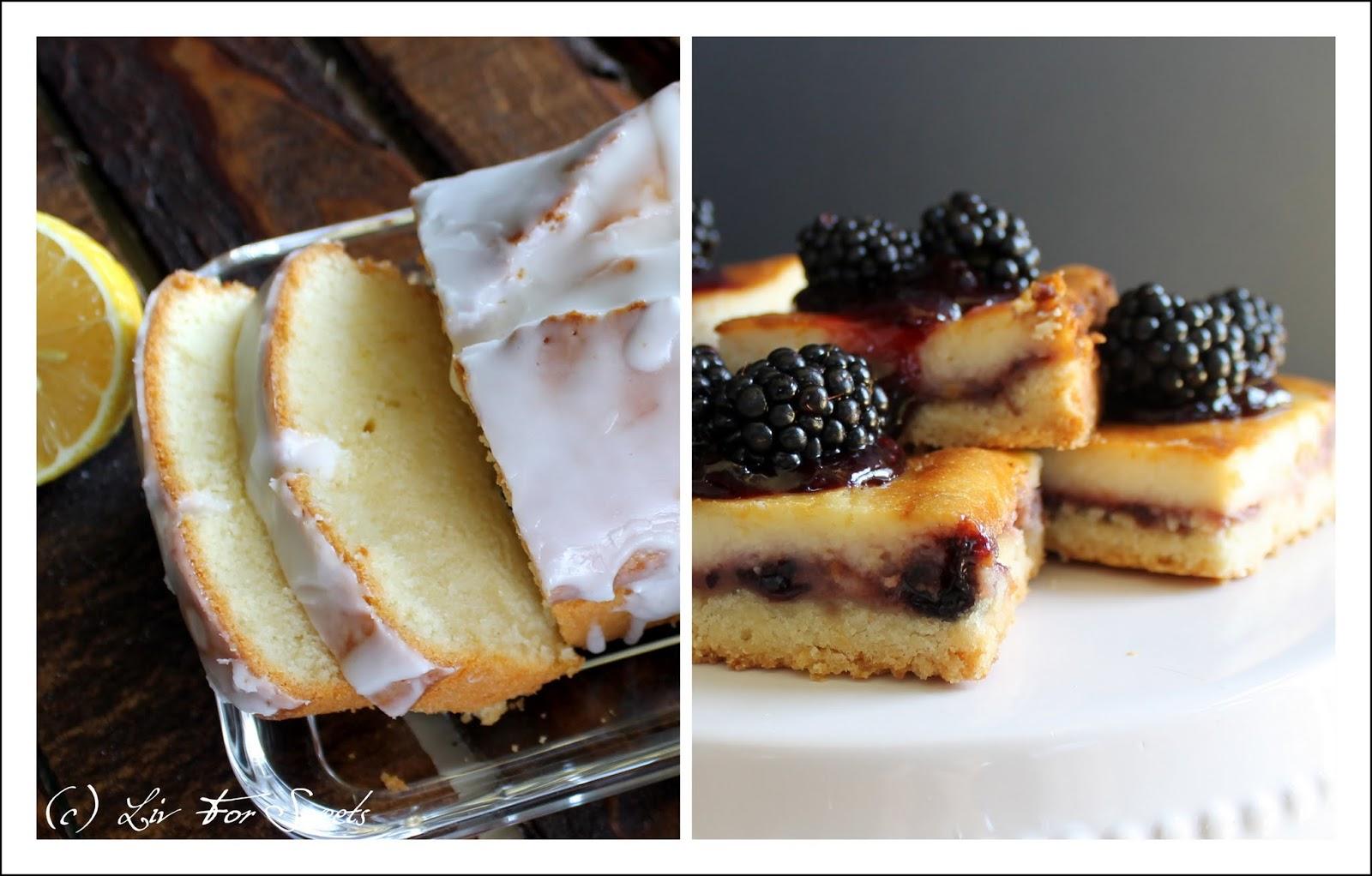 Zitronenkuchen und Käsekuchen mit Brombeeren und Limette - Rezept auch für den Thermomix