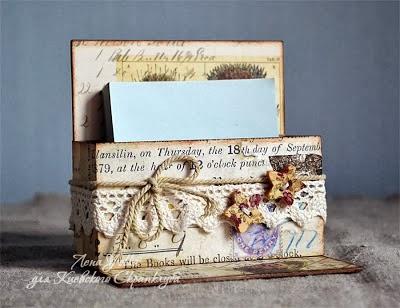 МК подставка для маленьких открыточек