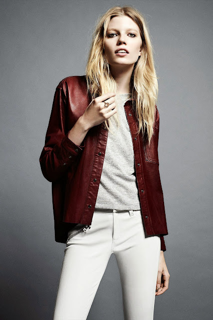 Kate Bosworth Topshop leather shirt