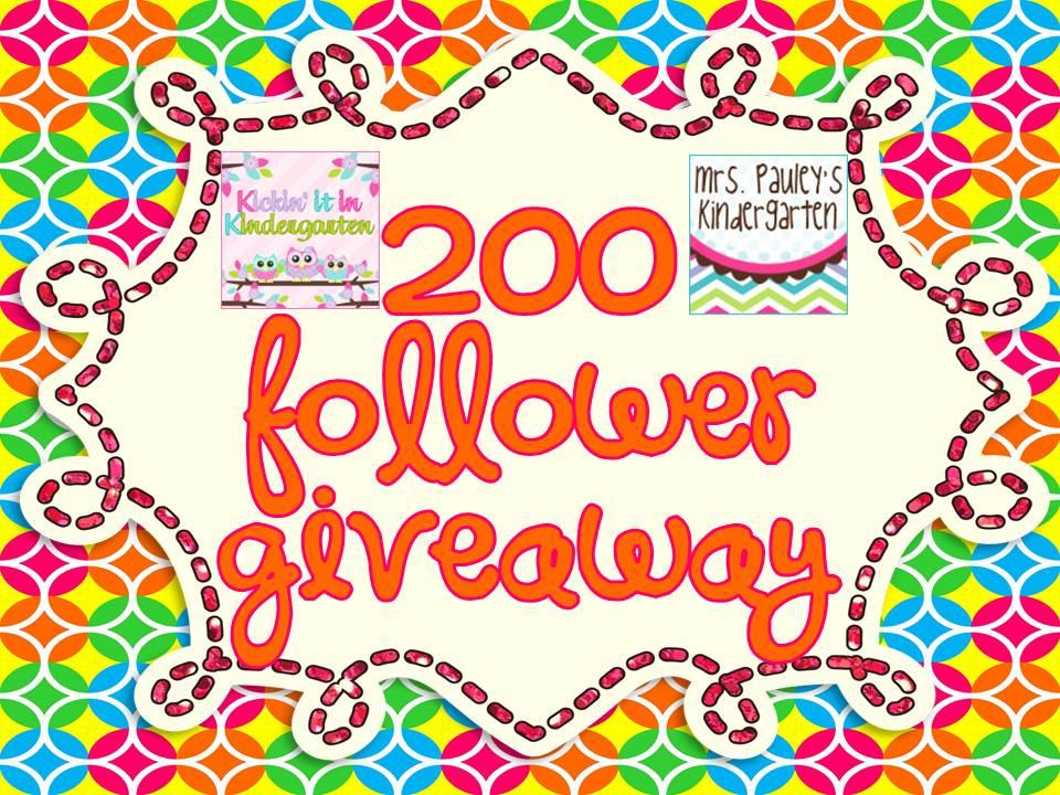 200 follower giveaway mrs pauley 39 s kindergarten. Black Bedroom Furniture Sets. Home Design Ideas