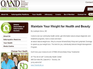 Maintain Your Weight for Health and Beauty, The Art of Life Community Health Centre Open House, May 7, 2012
