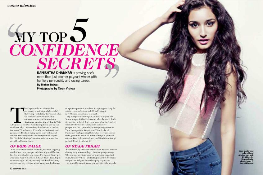 , Kanishtha Dhankar(miss India World 2011) On Cosmopolitan India Hot June 2012
