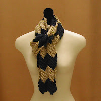 This zig zag scarf is on sale now!